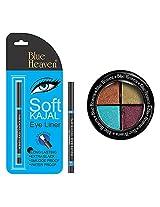BLUE HEAVEN Eye Magic Eye Shadow 603 & BH Kajal Liner Combo