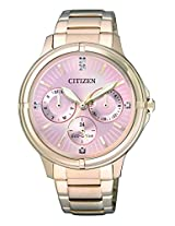 Citizen Analog Rose Gold Dial Women's Watch - FD2033-52W