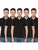 Concepts Men's Casual Shirt (TSHT_C5_BKBKBKBKBK_Multi_38)