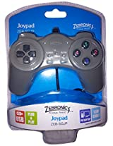 Zebronic ZEB-50JP USB JOYPAD GAMING CONTROLLERS Gray