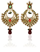 Gold Plated Chandlier Earringss for Wedding & Engagement Use, With Kundan Theme and Designer Collection