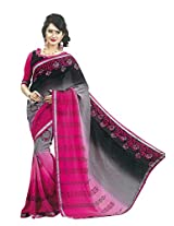 Faux Georgette Saree in Gray Colour for Casual Wear