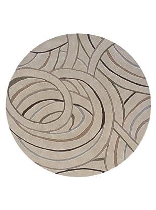 Trade-Am Vibrance Cosmos Round Rug (Grey)