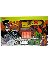 RAPID FIRE SOFT BULLET GUN with 2 ZOMBIE TARGETS