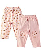 Infant Girls Legging: Pack Of 2, Pink (3-6 Months)