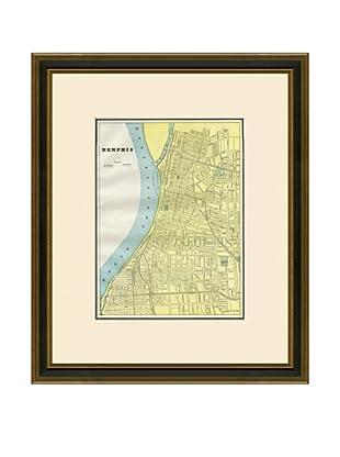 Antique Lithographic Map of Memphis, 1883-1903