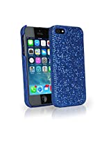 BoxWave Glamour & Glitz iPhone 5s / 5 Case - Pretty Sparkly Glitter Case Colorful Girly Sparkle Cover for Your Apple iPhone 5s / 5 - Apple iPhone 5s / 5 Cases and Covers (Sapphire Blue)