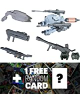 Option Set 2 & Tk 53/S Cgs Mobile Worker (Space Type): Gundam Iron Blooded Arms High Grade 1/144 Add On Set + 1 Free Official Japanese Gundam Trading Card Bundle (Hgiba #002)