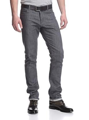 John Varvatos Collection Men's Slim Fit Jean (Metal Grey)