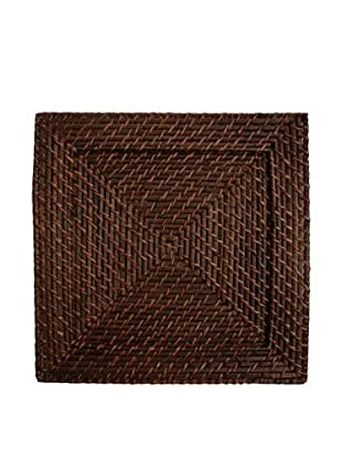 Charge It! by Jay Set of 4 Rattan Charger Plates, Brown, 13