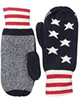 Jack Spade Men's Stars and Bars Mittens, Multi, One Size