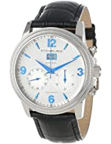 Stuhrling Original Men's 286.33152 Symphony Eternity Mercury Mechanical Chronograph Date Silver Tone Watch