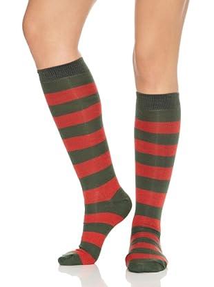 El Ganso Calcetines Rayas (Verde / Rojo)