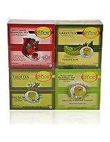 GTEE Hibiscus Tea Bags & Moringa Tea Bags & Tulsi Tea Bags & Green Tea Bags - Regular (10 Tea Bags X 4 PACKS)