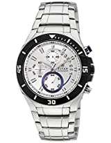 Titan Octane AW Analog White Dial Men's Watch - 1631KM02