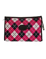 Danielle Argyle Zip Top Bag, Red/Black, Large