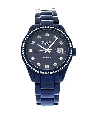 al&co Reloj Allumiunum Strass Azul
