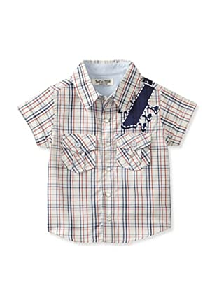 Da Lil Guys Baby Short Sleeve Woven Shirt (Rock & Roll)