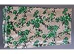Beige Floral Velvet Dress Material Without Dupatta