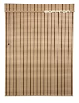 Art Wood Roll Up Blinds- Beige (4ft Width X 8.5ft Height)