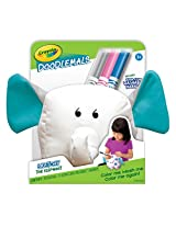 Crayola Doodlemals, Washable Plush Set of 2, Elephant and Lion, Art Tools, Ultra-Clean Washable Markers