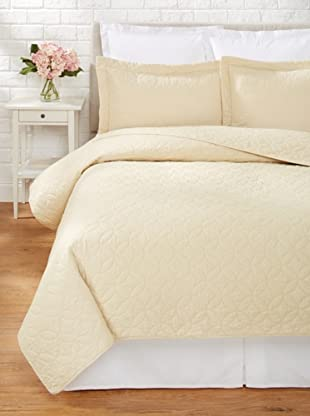 Laura Ashley Solid Quilt Set (Toffee)