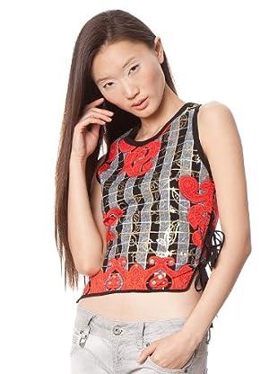 Custo Camiseta (Gris / Negro)