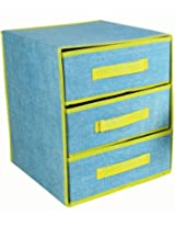 CONNECTWIDE® Multipurpose 3 LAYER DRAWER ORGANIZER (Blue)