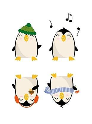 Beiwanda Kids Wandtattoo lustige Pinguin Truppe