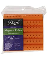 Diane Magnetic Hair Rollers, Orange, 13/16 Inch