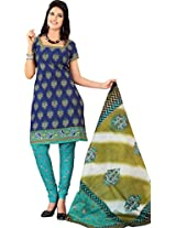 atisundar angelic Blue Traditional Cotton Printed Salwar Suit- 4325_39_5036