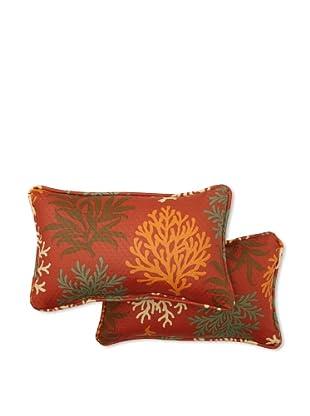 Set of 2 Marine Life Rectangle Decorative Throw Pillows (Mango)
