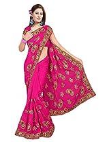 A.V.Fashion Embroidered Saree (1104_Rani)