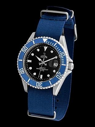 Dogma G7025 - Reloj de Caballero movimiento de quarzo con correa téxtil azul