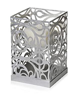 Caged Light Candle Holder (Silver)