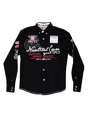 Geographical Norway Camisa Manga Larga Zautical (Negro)
