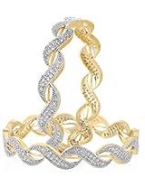 Quail Gold Non-Precious Metal Bangle for Women Size: 2.6 cm (ABPC11)