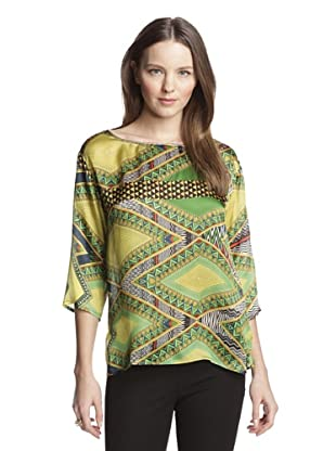 Beatrice B Women's Printed Top (Green)
