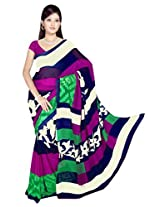Sonal Trendz Multi Color Printed Georgette Saree with Blouse
