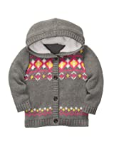 Carter's Baby Girls Mini Blues Hooded Knit Cardigan (3M-24M) (3 Months)