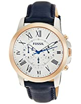 Fossil Grant Analog Silver Dial Men's Watch - FS4930I