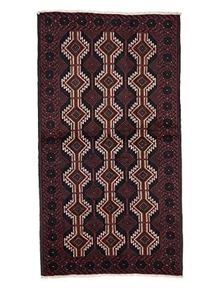 Darya Rugs Authentic Persian Rug, Red, 3' 7