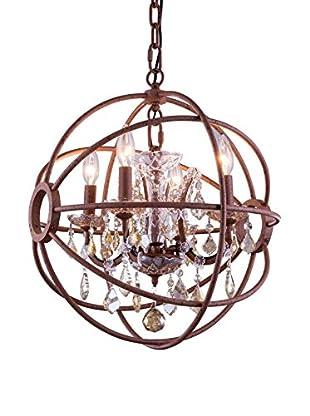Urban Lights Geneva 4-Light Pendant Lamp, Rustic Intent/Golden Teak