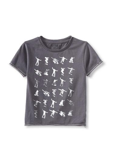 iNTAKT Boy's Allover Skater Tee (Charcoal)