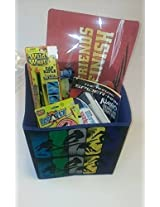 Toys for Boys ~ Storage Bin Toy Box ~ Cap & Fly Gun ~ Rifle ~ Spiderman Book ~ Disney Cars Items and