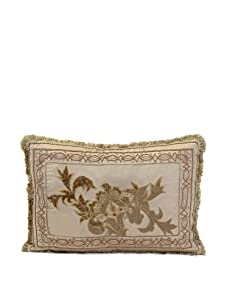 "John-Richard Collection Floral Velvet Appliqué Pillow, 16"" x 24"""