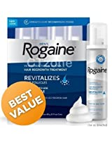 Rogaine Hair Regrowth for Men 5% Minoxidil Topical Foam 4-month Supply