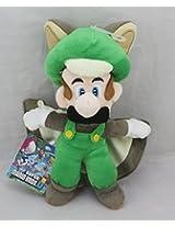 Super Mario Brothers U ~ 9 Inch ~ Flying Luigi Squirrel Plush Doll