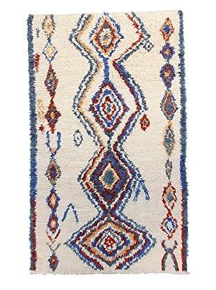F.J. Kashanian Morrocan Berber Rug, Ivory/Blue, 5' x 8' 4