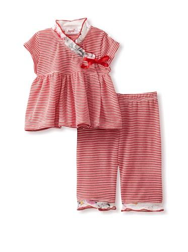 Jupon Baby Adele Kimono & Pants Set (Red)